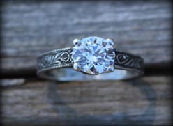 Diamond Engraved ring