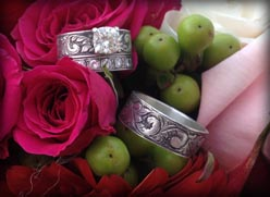 Western Engraved Wedding set